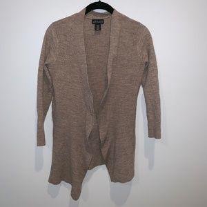 Adrienne Vittadini 100% Merino Wool Open Cardigan